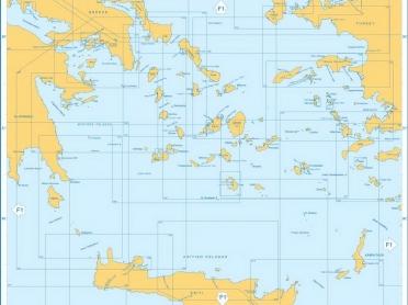 Harta nautica marea Egee