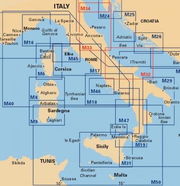 Harta nautica Italia